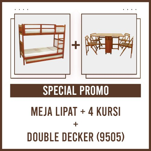 [PROMO] Meja Lipat 4 Kursi + Double Decker 9505